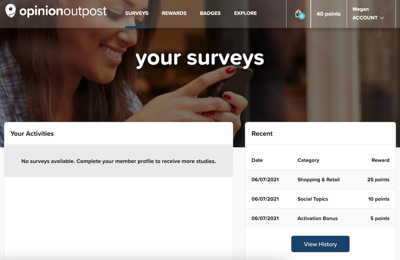 Opinion Outpost No Surveys