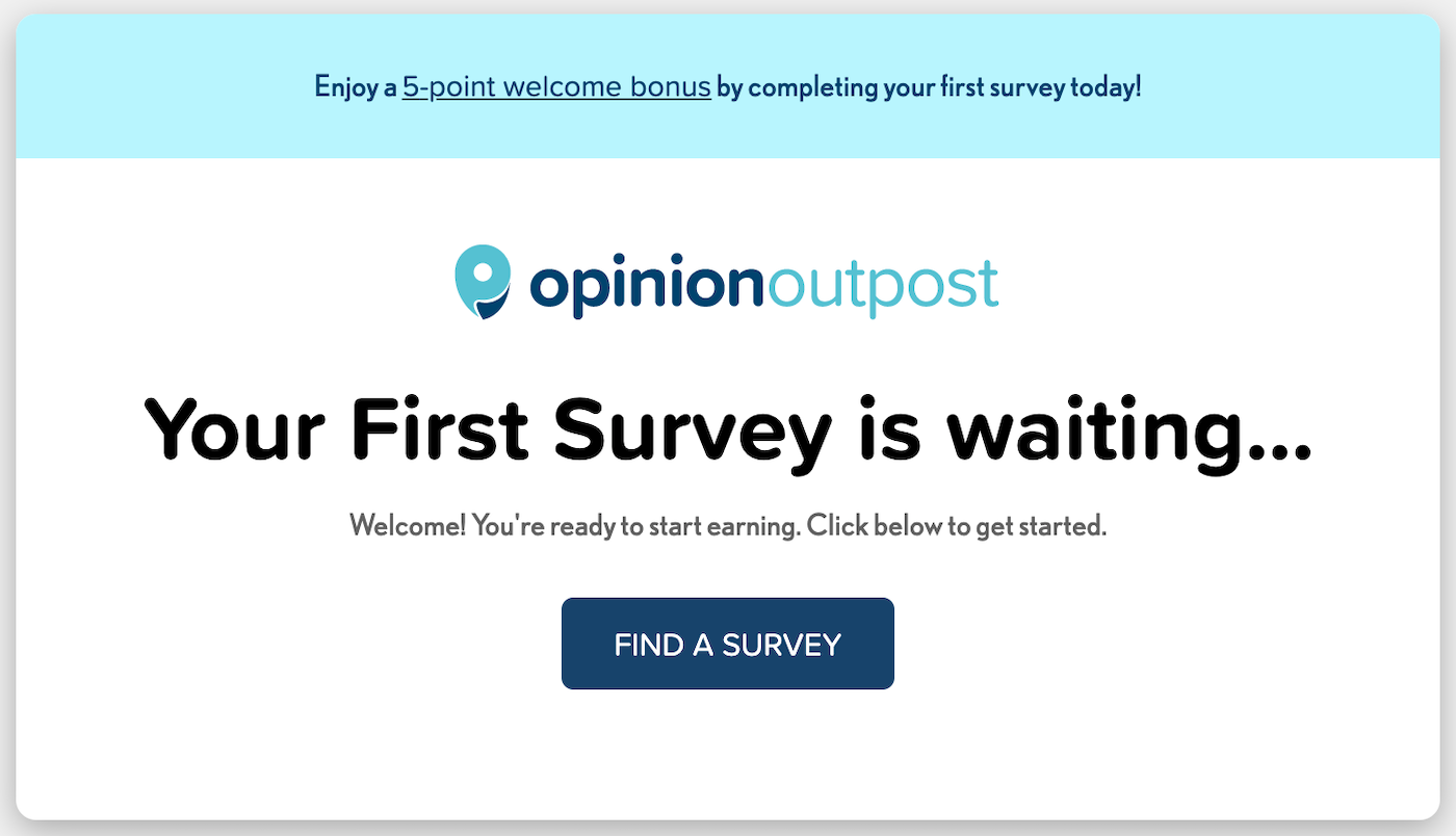 Opinion Outpost Welcome Bonus