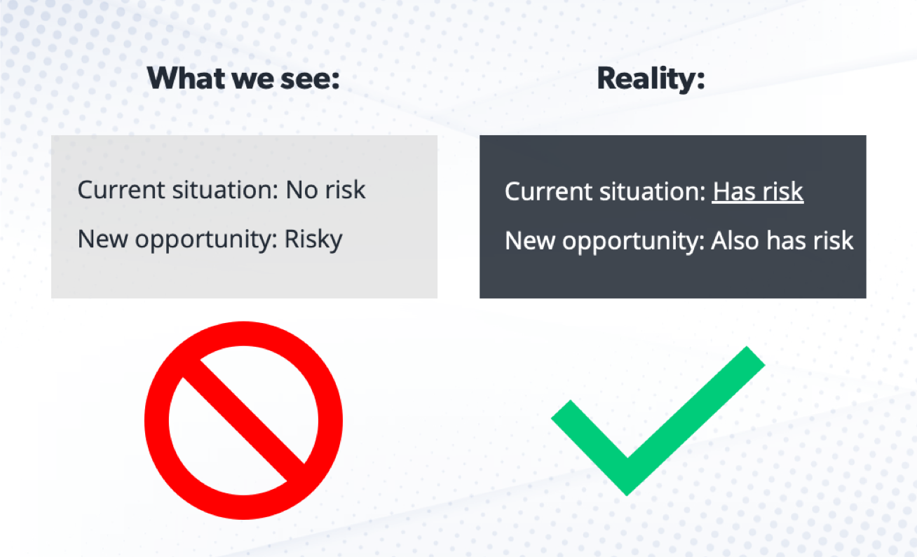 Graphic showing how our perception of risk is different from reality.