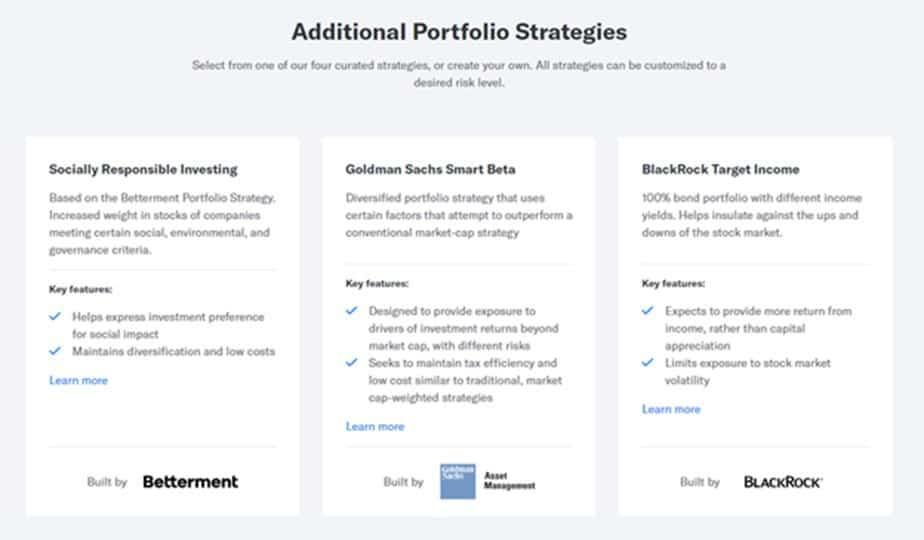 betterment additional portfolios