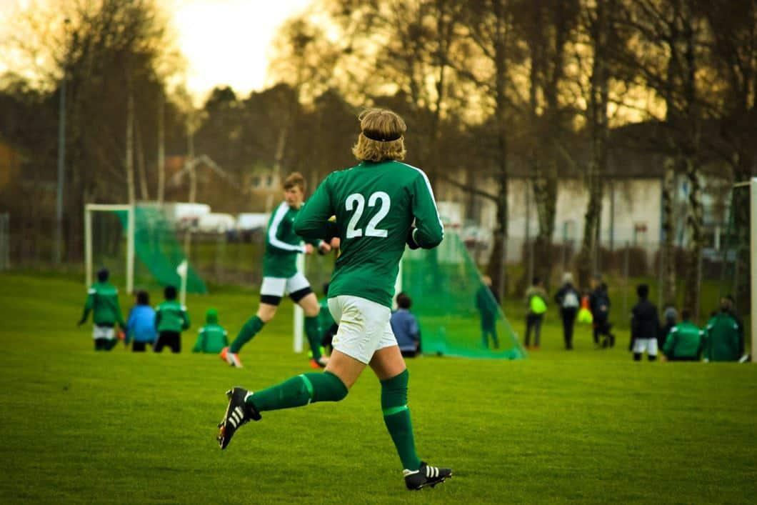 man playing recreation league soccer